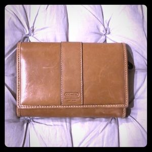 Camel colored Coach wallet